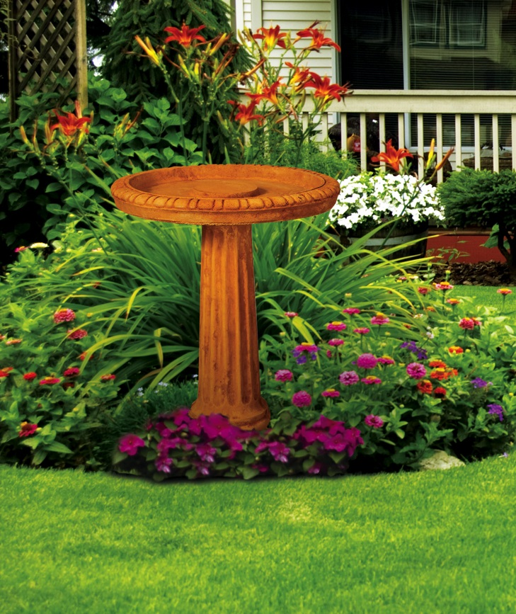 Fluted Birdbath, 2 pc.