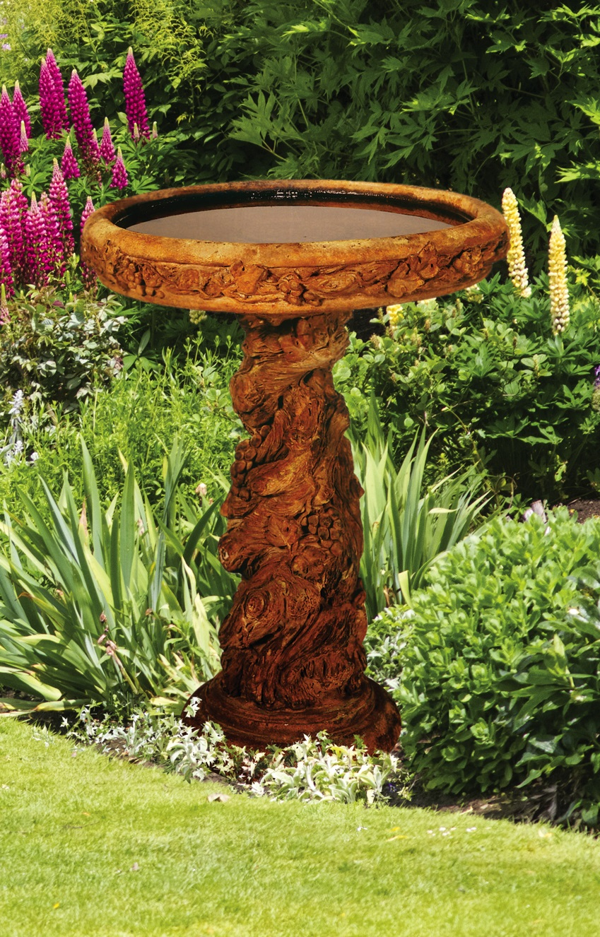 Large Grapevine Birdbath, 2 pc.