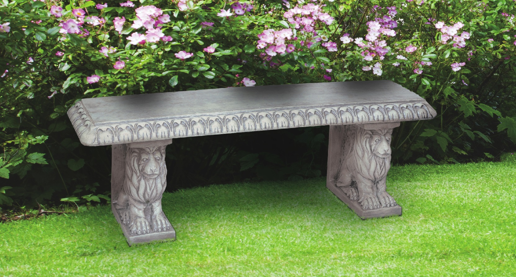 Straight Lion Bench, 3 pc.