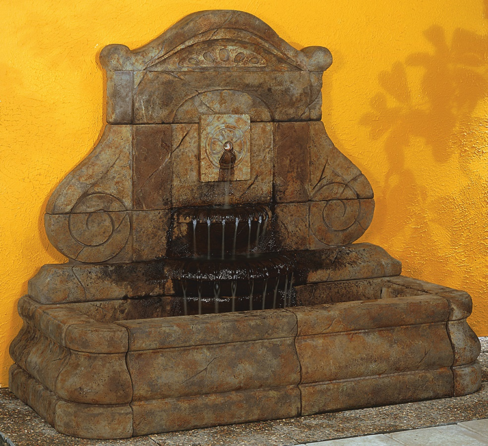 Avignon Rosette Fountain, 1-Pc.