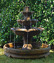Montreux Three-Tier Fountain in Rondo Pool